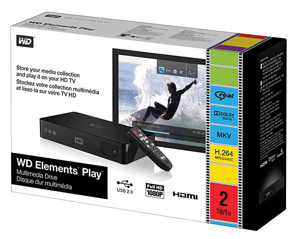 Медиаплеер Western Digital WD Elements Play 2TB